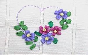 【立体丝带绣】立体丝带绣花样,立体丝带绣针法,玫瑰花,图片