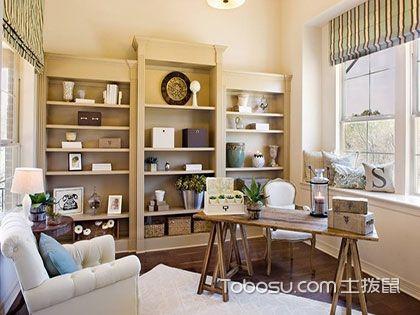 客厅书架效果图,设背景墙不如设书架