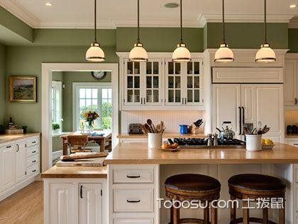 美式开放式厨房设计,田园风格最亮眼!