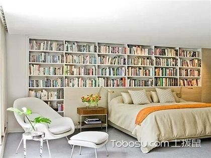 卧室书架效果图,小户型设计绝妙方案