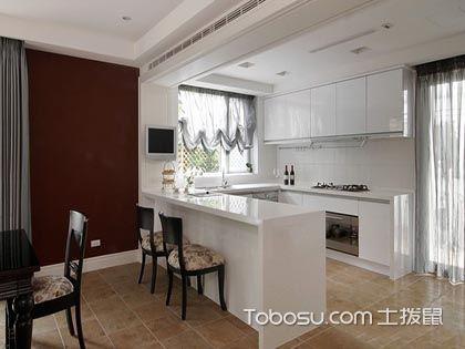 開放式廚房吧臺效果圖,展現小資的生活情調!