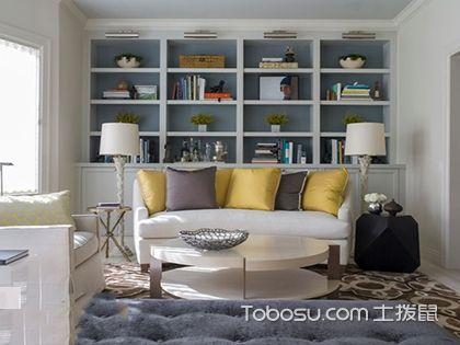 沙发后面书架效果图,让家里多些创意和可能!