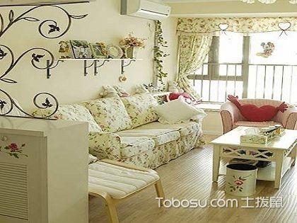 65平方二房一厅装修图,带你体验小居室的田园风!