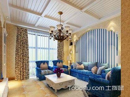 53平米二居室装修图片,彰显地中海风格的魅力!