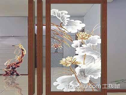 玻璃玄关隔断效果图,通透实用还美观的隔断材料!