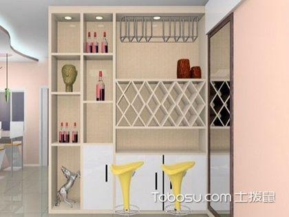 酒柜隔断效果图,收纳与装饰并存的巧妙设计!