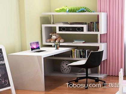 拐角电脑桌书架效果图,打造别样办公阅读区