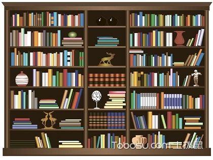 单面书架图片,兼具收纳装饰功能的家具!