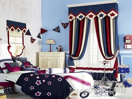 男孩卧室窗帘选购技巧,教你正确选择合理搭配!