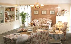 【田园风格客厅】田园风格客厅特点,田园风格客厅灯,沙发,图片