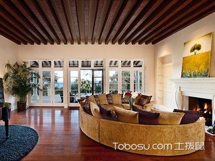 客厅生态木吊顶效果图,三大好处值得你拥有