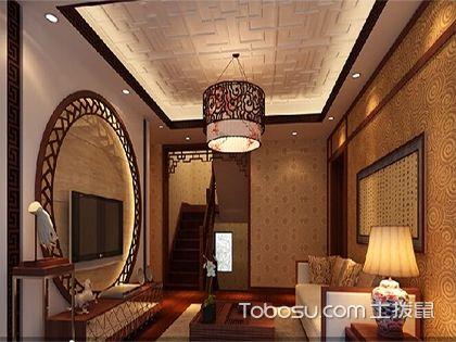 中式客厅装修效果图,典雅中暗藏着大气