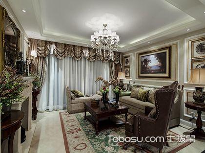美式风格客厅装修效果图,高贵与优雅并存