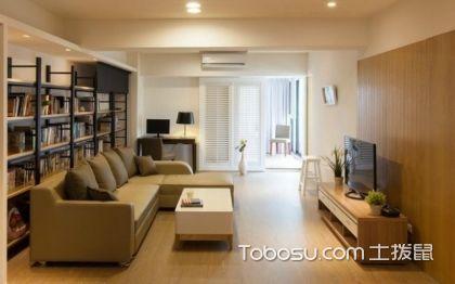 青岛90平米房装修费用,10万教你打造简约两居室