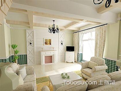 田园风格客厅装修效果图,宁静婉约气质非凡