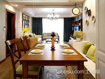 三房两厅简约美式装修案例,打造自然温馨小家不是问题!