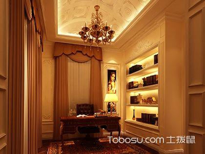法式风格书房效果图,打造精致办公空间