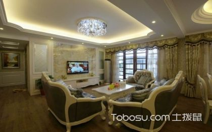 最新款装修案例推荐:三室两厅欧式风格装修案例