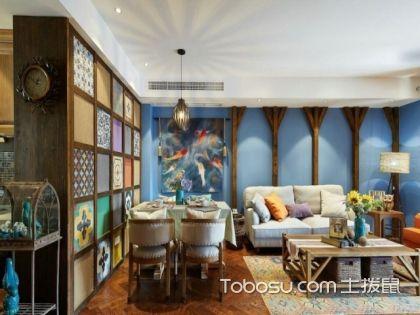 福州90平米房装修费用,20万元打造蔚蓝地中海风格家居