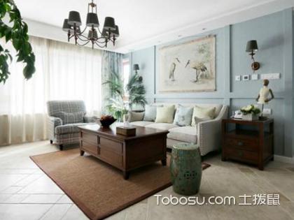 客厅田园风格装修,轻奢之美