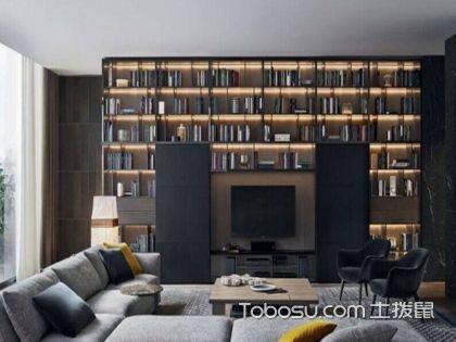 客厅背景书橱,原来客厅装修还能这么设计!