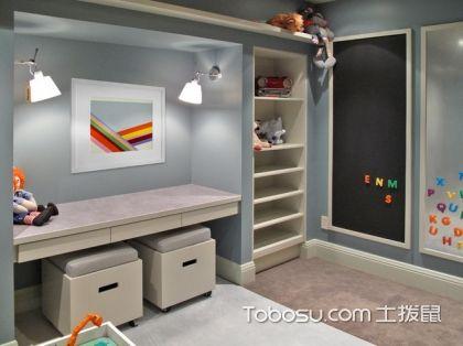 2017最新儿童书柜效果图,特色装修加完美设计足够让孩子爱上它