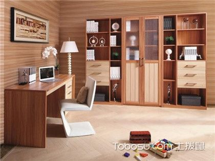 让你爱上书房的定制书柜效果图,书房容量翻一番