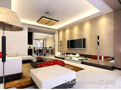 2米宽客厅装修,麻雀虽小五脏俱全