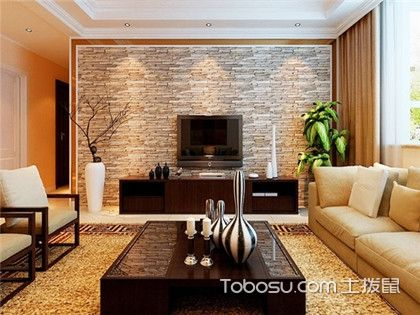 客廳天然石材裝修電視背景墻,不懂設計先看看這些火爆客廳效果圖