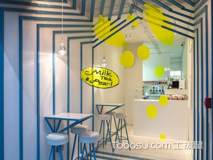 创意奶茶店装修效果图展示,这么美的奶茶店你舍得不看