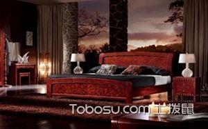红木大床图片