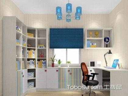 看书房转角书柜效果图,学书柜装修设计要点