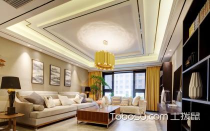 新中式实景效果图展示,专业眼光剖析青岛三房两厅全包装修费用