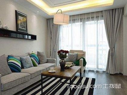 客厅窗帘装修效果图欣赏,客厅窗帘装修色彩