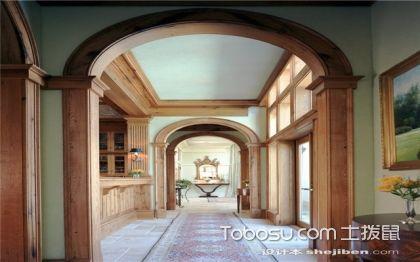S型设计走廊装修效果图,玄关客厅走廊房屋装修效果图