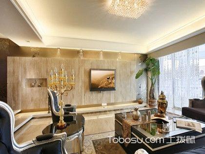 客廳背景裝修石材設計,客廳電視背景墻裝修選它就對了!