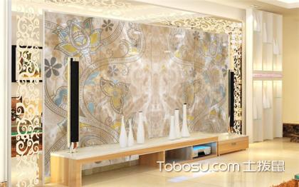 跃层仿石材背景墙实景图大全——客厅石材背景墙赏析