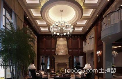 美式客厅吊顶装修效果图,美式吊顶案例分析