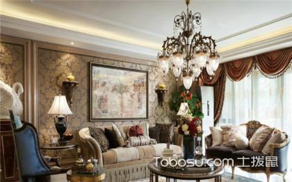 90平米小三居家装设计图, 法式风格打造优雅迷人家居