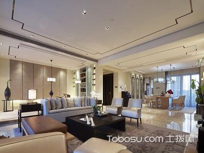 130平米开放新中式风格装修效果图,三室两厅亦可更大