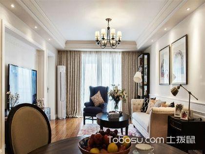 广州110平米美式三居室装修效果图,轻美式案例分析!