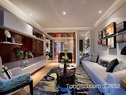 长沙经典三室两厅现代装修案例,90平米现代三居充满了艺术气息
