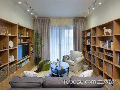 金华70平米北欧风格两室两厅装修,看书虫的如何自我救赎!
