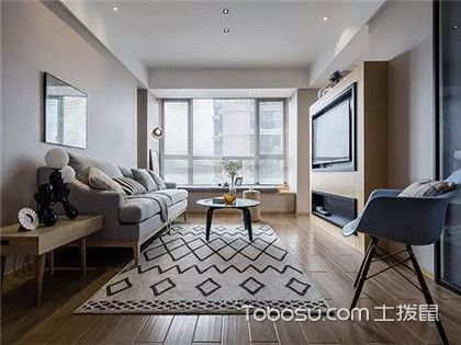 86平米两室两厅北欧风装修效果图,给你一个简单素雅的家