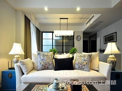 济南140平米现代中式装修效果图,阳台茶室好惬意!