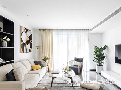 长沙120平现代简约创意装修案例,打造简约时尚三房两厅