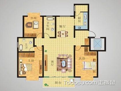 三居室最好的户型图在这里,简析经典三居室户型图