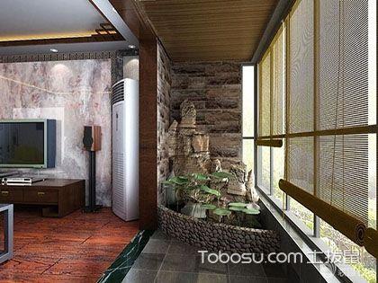 大户型生活阳台墙面装修效果图,墙面装修效果欣赏