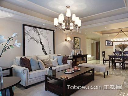 厦门120平四房美式风格案例,禅意美式四居超有feel