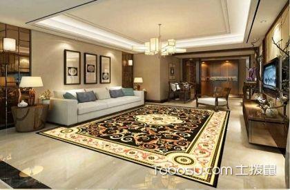 2017欧式大户型客厅拼花地砖图片,客厅地面装修案例